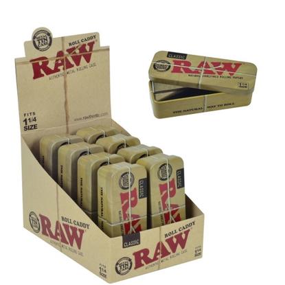 Imagen de CAJITA PAPEL DE FUMAR RAW CASE CONE TIN 1/4