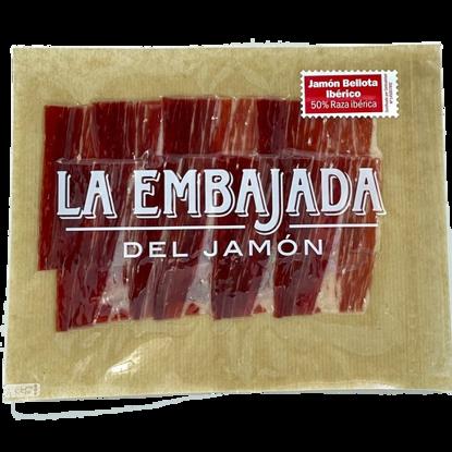 Imagen de JAMÓN BELLOTA 50% IBÉRICO 80GR LONCHEADO MÁQUINA